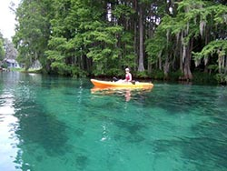 Kayaking on the Rainbow River