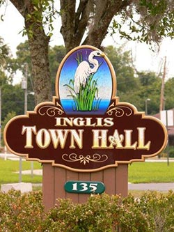 Inglis Florida Sign
